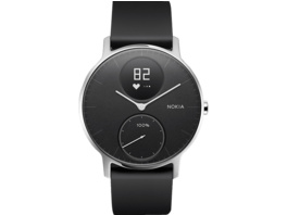 NOKIA STEEL HR, Activity Tracker, Silikonband, 36 mm, Schwarz