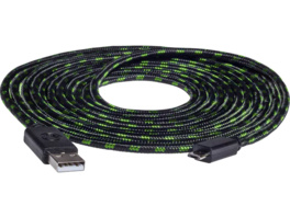 SNAKEBYTE SB910487 Xbox One USB CHARGE:CABLE PRO™ 4m Ladekabel, Grün/Schwarz