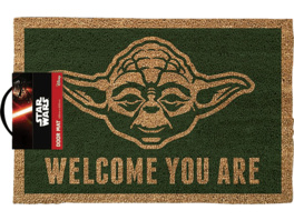 EMPIRE Star Wars Fussmatte Kokos Motiv Yoda Welcome you are Fussmatte, Mehrfarbig
