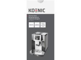 KOENIC KCT-010-1 Reinigungstabletten für Kaffee-und Espressomaschinen, Weiß