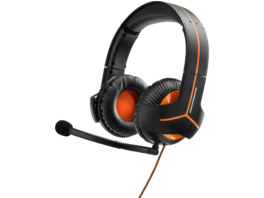 THRUSTMASTER Y-350CPX (PS4 / Xbox One / PC / Nintendo Switch), Gaming Headset, Schwarz/Orange