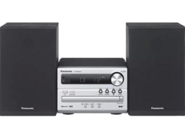 PANASONIC SC-PM 254 EG-K, Kompaktanlage, 20 W, Silber