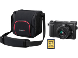 PANASONIC Lumix DMC-GX80 Systemkamera 16 Megapixel mit Objektiv 12-32 mm , 7.5 cm Display   Touchscreen, WLAN