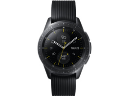 SAMSUNG Galaxy Watch 42mm Bluetooth, Smartwatch, Silikon, S, L, Schwarz