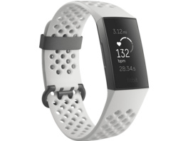 FITBIT  Charge 3 SE, Fitnesstracker, S: 140 mm - 180 mm, L: 180mm - 220 mm, Thermoplastische Elastomere (TPE), Graphit/Weiß