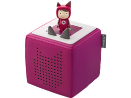BOXINE Audiosystem Tonies Toniebox - Starterset - inkl. Kreativ Tonie Audiosystem, Beere