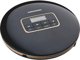 GRUNDIG GCDP 8000, Tragbarer CD-Player, Schwarz