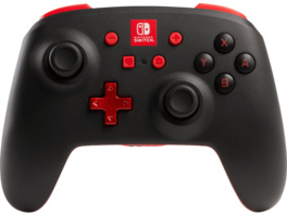 POWER A Switch Wireless Controller, Schwarz/Rot