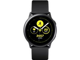 SAMSUNG Galaxy Watch Active, Smartwatch, Fluorkautschuk (FKM), 111.5 mm, Schwarz