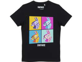 MUSTERBRAND Fortnite T-Shirt Kids Print Lama Black 176cm T-Shirt, Schwarz
