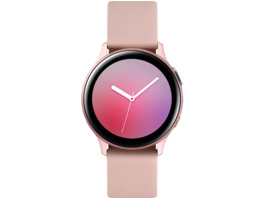 SAMSUNG Galaxy Watch Active2 Aluminium 40mm PG, Smartwatch, Fluorkautschuk, S/M, Pink Gold
