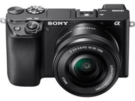 SONY Alpha 6100 Kit (ILCE-6100L) Systemkamera 24.2 Megapixel mit Objektiv 16-50 mm , 7.5 cm Display   Touchscreen, WLAN