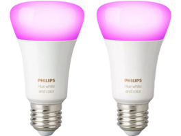 PHILIPS Hue White & Col. Amb. E27 Doppelpack Bluetooth LED Lampen, Weiß