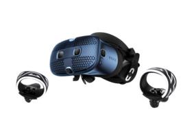 HTC Vive Cosmos, VR Brille + 2xController, Blau/Schwarz