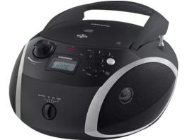 GRUNDIG GRB 3000 BT, Radio, Schwarz/Silber