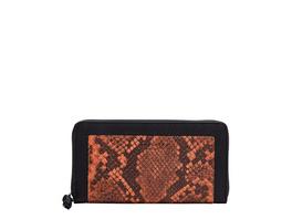 große Brieftasche mit Schlangenhautprägung - Side by Side Snake Sally