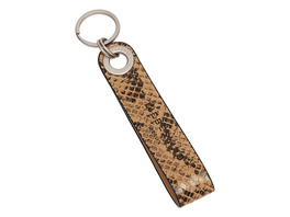 Leder Schlüsselanhänger mit Schlangenhautprägung - Snake Keyring