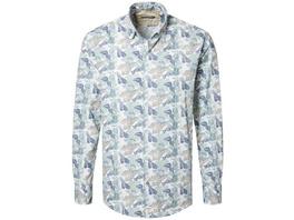 Hemd mit Blätterprint - Modern Fit