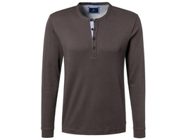 Longsleeve Poloshirt mit Strickkragen - Regular Fit
