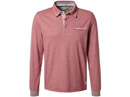 Longsleeve Poloshirt mit Streifen - Regular Fit