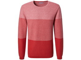 Rundhals Pullover mit Blockstreifen - Regular Fit