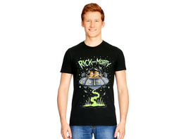 Rick and Morty - Space Cruiser T-Shirt schwarz
