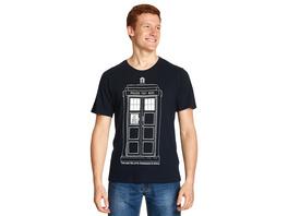 Doctor Who - Tardis Outline T-Shirt blau