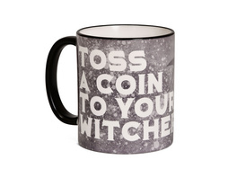 Toss a Coin Tasse für Witcher Fans