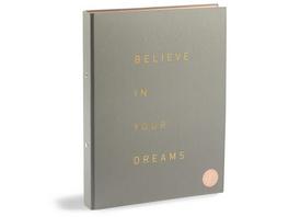 Ordner 'Believe in your Dreams'  A4  grau
