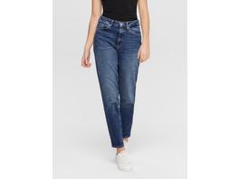 ONLY Reißverschluss vorn Mom Jeans mit High Waist