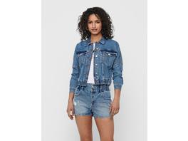 ONLY Knopfverschluss vorn Detailreiche Jeansjacke
