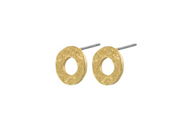 Ohrstecker Amber Open Post, in 2 Farben