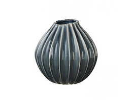 Vase Wide M ozeanblau