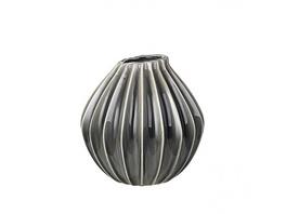 Vase Wide M rauchgrau