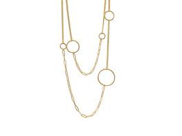 Halskette Tabitha open Panzer, gold